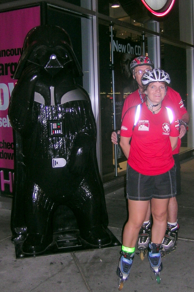 Darth Vader bear, Brian and Christine
