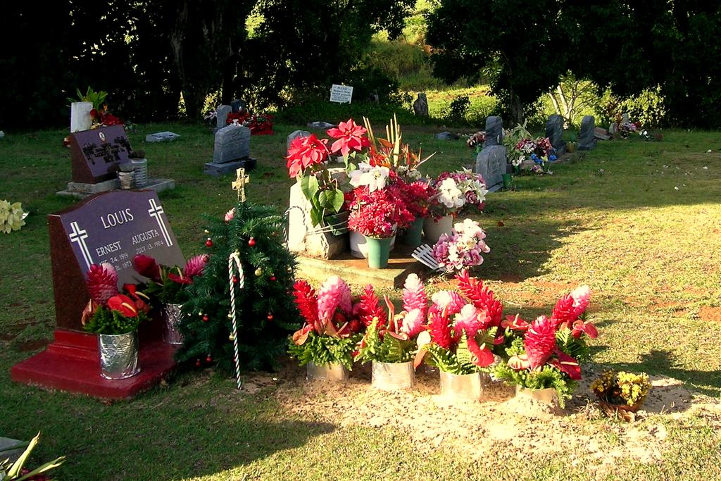St Raphael's Cemetery grave, Kauai