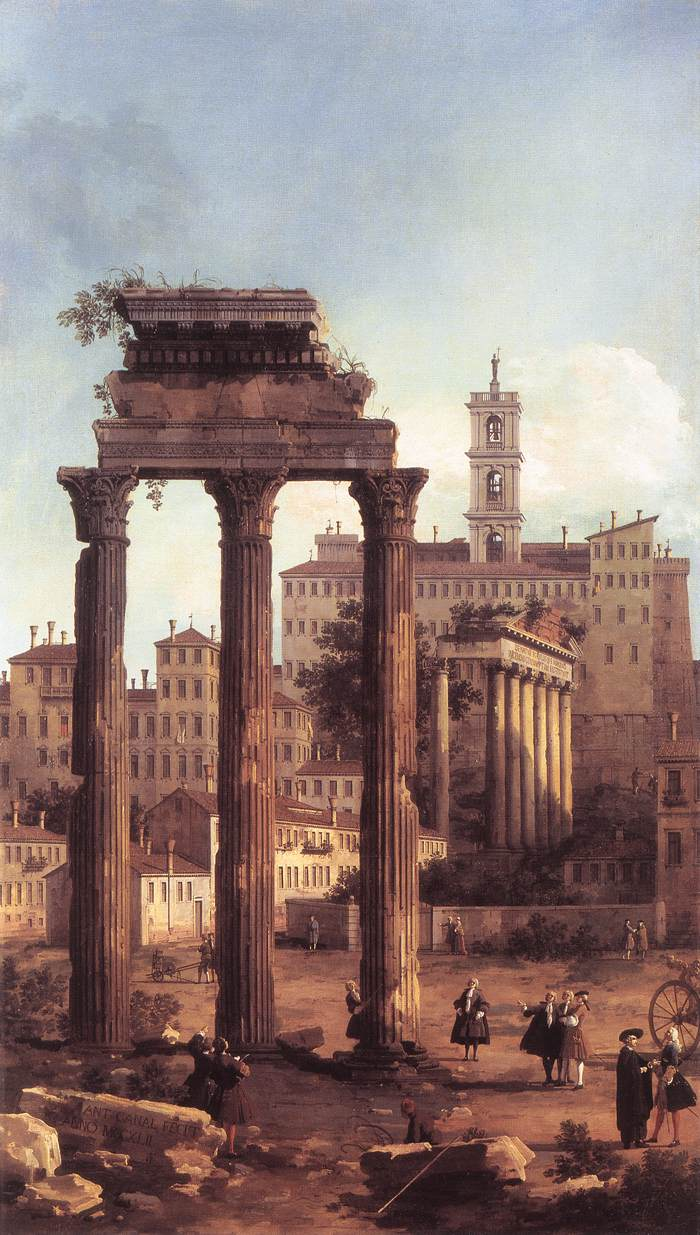 Canaletto, Ruins 1742