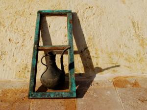 Metal Urn and Window