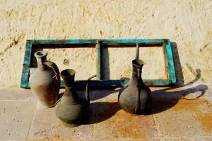 Three Urns and Horizontal Window