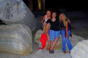 Barb, Christine and I at the Apollo Temple site
